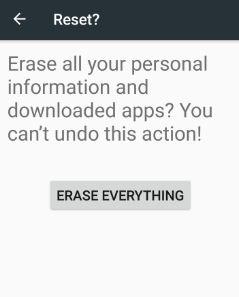 Erase everything on android 7.0 nougat