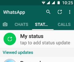 Tap on My status on WhatsApp android