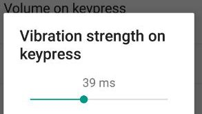 disable keyboard vibration android
