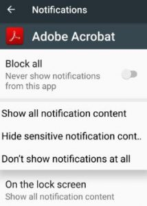 manage notifications android 7