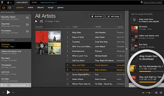Amazon music app for web or Mac