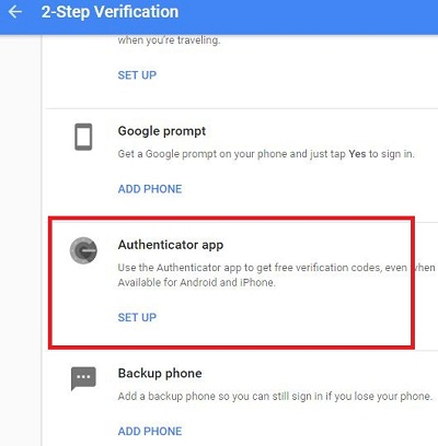 Authenticator app in android