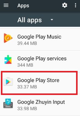 Clear cache Google Play Store android 7.0 Nougat