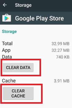 Clear the cahce and data Google service framework