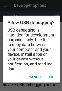Enable USB debugging android nougat 7.0 phone