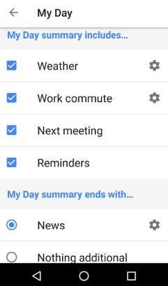 Google Assistant My Day feature