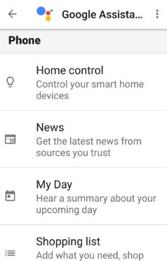 Google Assistant settings in nougat 7.0