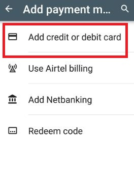 Google play store payment settings in nougat