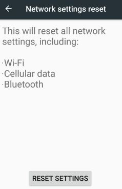 Reset network settings nougat 7.0 phone