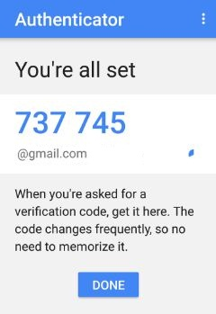 Set up Google authenticator app in android