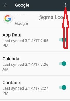 Tap more from top right side corner in Google settings