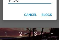 block calls and SMS in android nougat