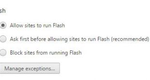 block flash videos in Google Chrome