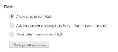 block flash videos in Google Chrome