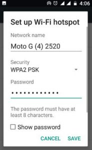 connect android phone to Wi-Fi hotspot