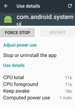 force stop com.android.systemui in nougat