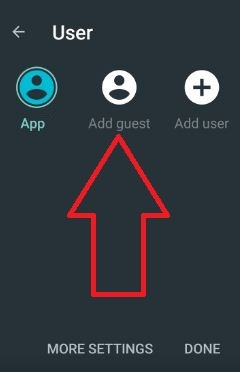 use Guest mode android