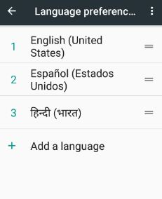 All added languages preferences for system language
