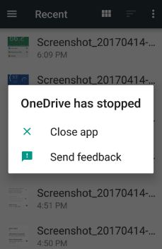 Fix Microsoft oneDrive has stopped working android phone