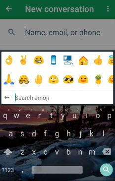 Send emoji with Google keyboard in android nougat