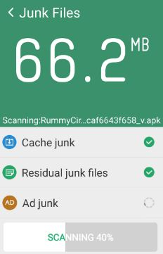 clean junk files in android to fix error 24 in play store