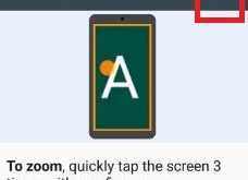 enable magnification gesture on nougat 7