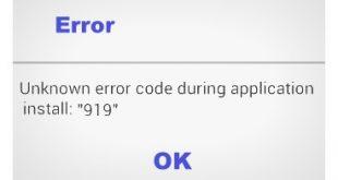fix Google Play Store error 919