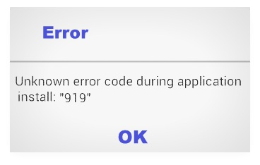 fix Google Play Store error 919