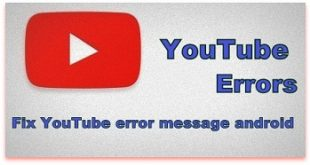 fix YouTube error message android