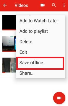 save offline uploaded your own YouTube video