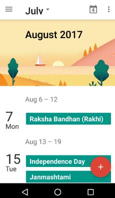 Best calendar apps for android phone