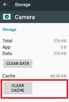 Clear cache of camera app in 7.0 nougat