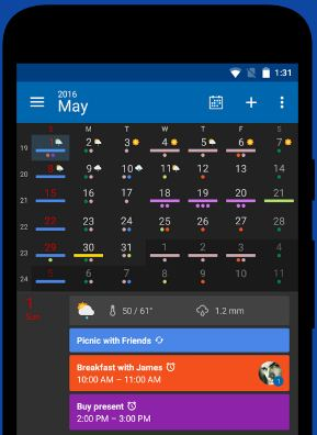 Digical Calendar app for android phone