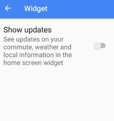 Enable show updates in widget