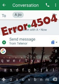 Fix 4504 message not found error android phone