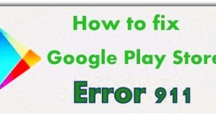 Fix Google Play Store error 911 in android