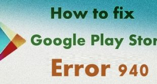 Fix Google Play Store error 940
