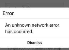Fix unknown network error on Instagram