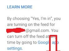 How to turn on feed in android phone