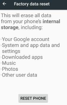 Reset android phone fix split screen mode error