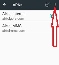 Tap more in APNs settings