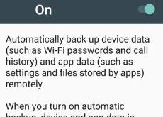 backup apps and settings android phone