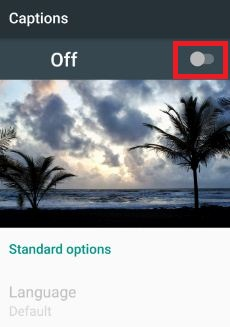 disable caption in YouTube android