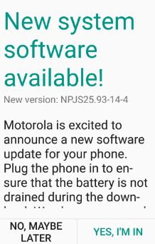 system software update available in nougat