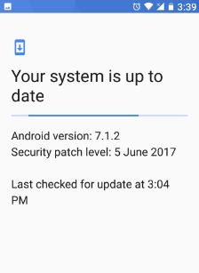 Check software update on Google pixel device