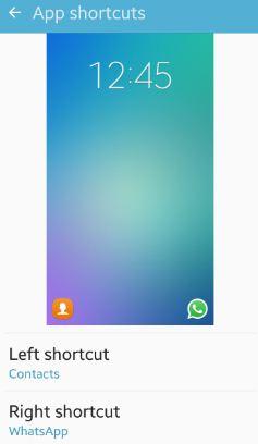 Customize lock screen shortcuts android marshmallow & lollipop