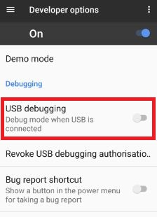 Disable USB Debugging on Google pixel & pixel XL