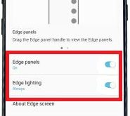 How to use galaxy S8 edge screen
