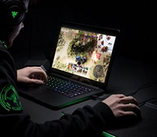 The Razer blade laptop for DJ