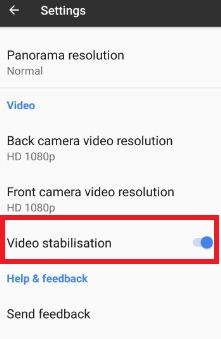 Turn off video stabilisation on Google pixel and pixel XL